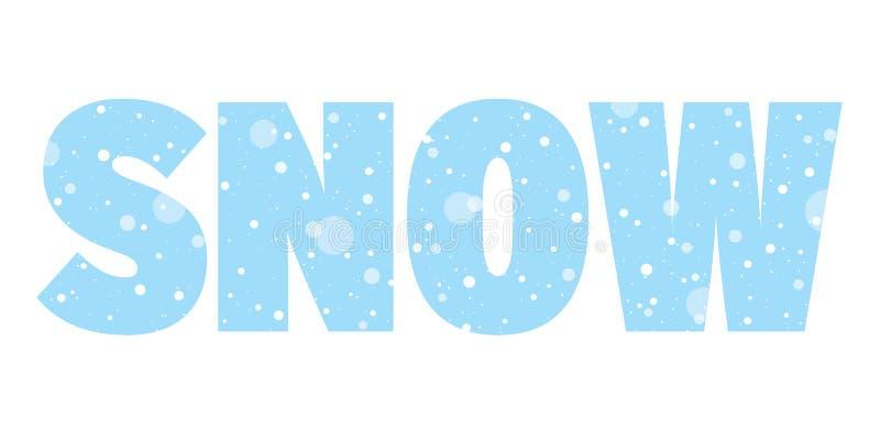 Säsongsbetonat baner med ordsnö Snöa begrepp royaltyfri illustrationer