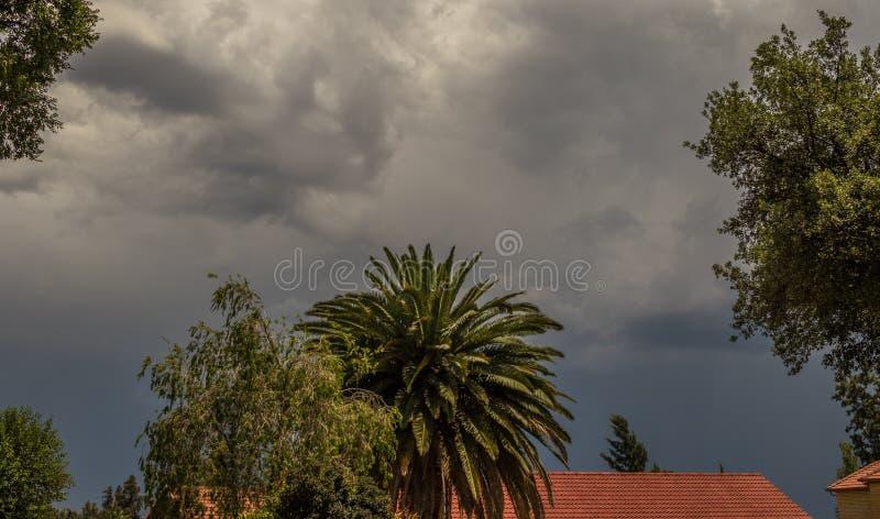 Säsongsbetonat stormigt sommarväder Gauteng South Africa royaltyfri fotografi