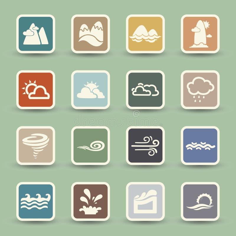 Säsongsymboler stock illustrationer
