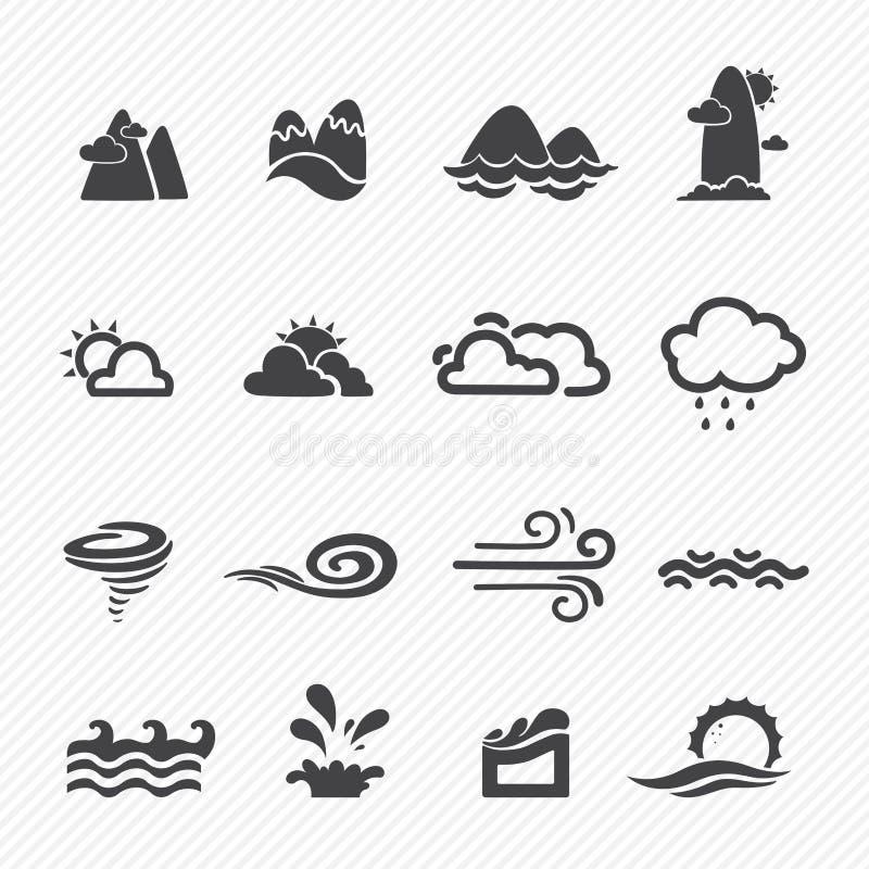 Säsongsymboler royaltyfri illustrationer