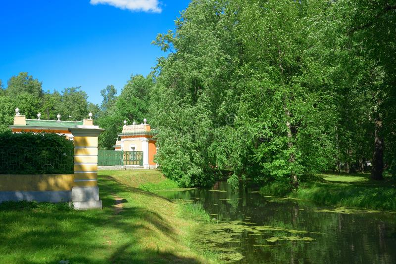 Säteri av Kuskovo, Moskva, Ryssland Parkera Kuskovo - godset av räkningen Sheremetev Arkitektonisk och konstnärlig helhet av XVII arkivbild