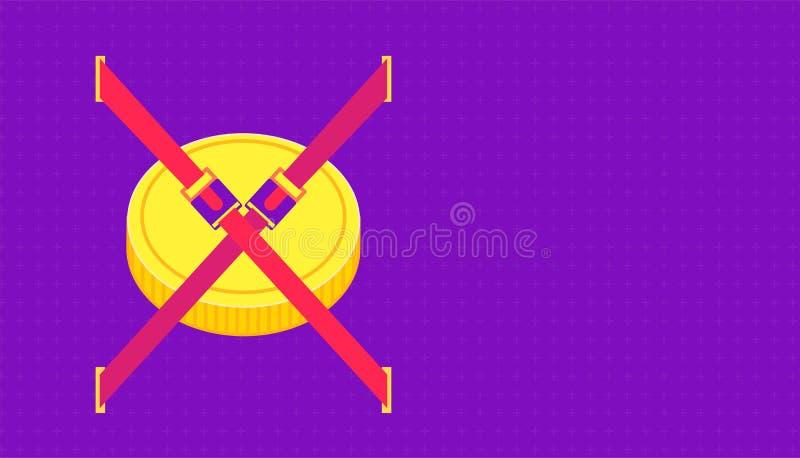 Sätt pengarbältet för krasch bifloden h?rlig f?rg f?r bakgrund illustration eps10 vektor illustrationer