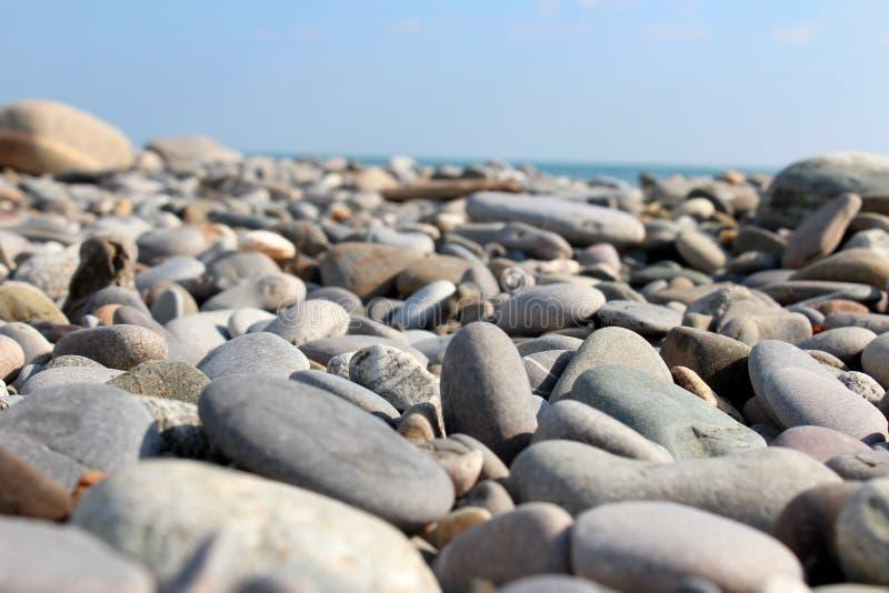 sätta på land pebblen royaltyfri foto