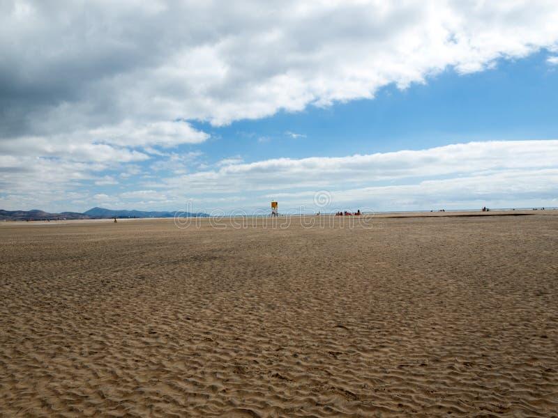 Sätta på land Playa de Sotavento, kanariefågelön Fuerteventura royaltyfria foton