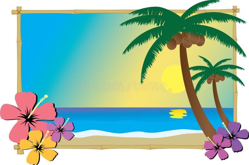 sätta på land tropiskt vektor illustrationer