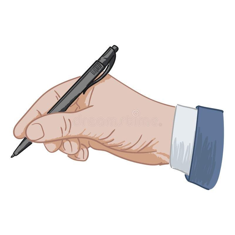 Sätter hans häftepenna royaltyfri illustrationer