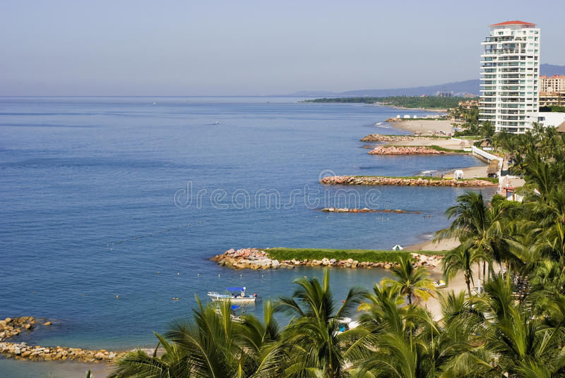 sätter på land hotell mexico Puerto Vallarta fotografering för bildbyråer