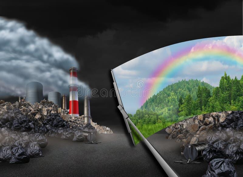 Säubern der Umwelt stock abbildung