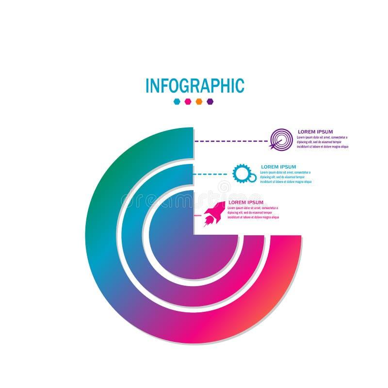 Säubern Sie bunten modernen infographic Zeitachseelement-Designvektor stock abbildung