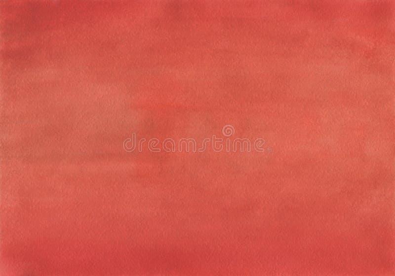 Säubern Sie das einheitliche Mischen des roten Aquarell-Hintergrundes stock abbildung