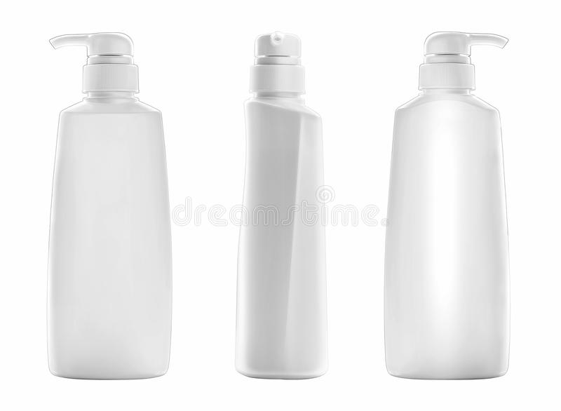 Säubern Sie Flaschenschablone Kosmetik-Paket lizenzfreie stockbilder