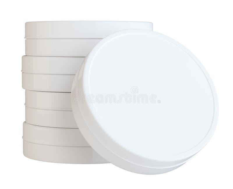 Säubern Sie geschlossene Creme kann mit leerem Raum lizenzfreie abbildung
