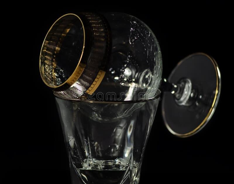 Säubern Sie Glasbecher lizenzfreies stockfoto