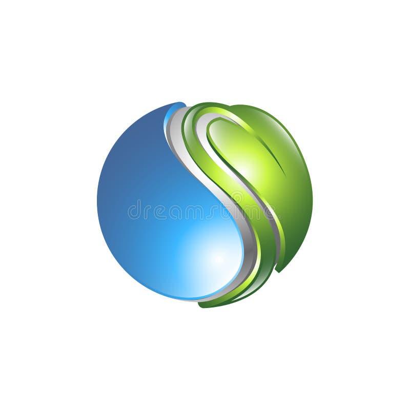 Säubern Sie grüne Welt Eco-Weltgrünblatt-Energiesparlampesymbol EC vektor abbildung