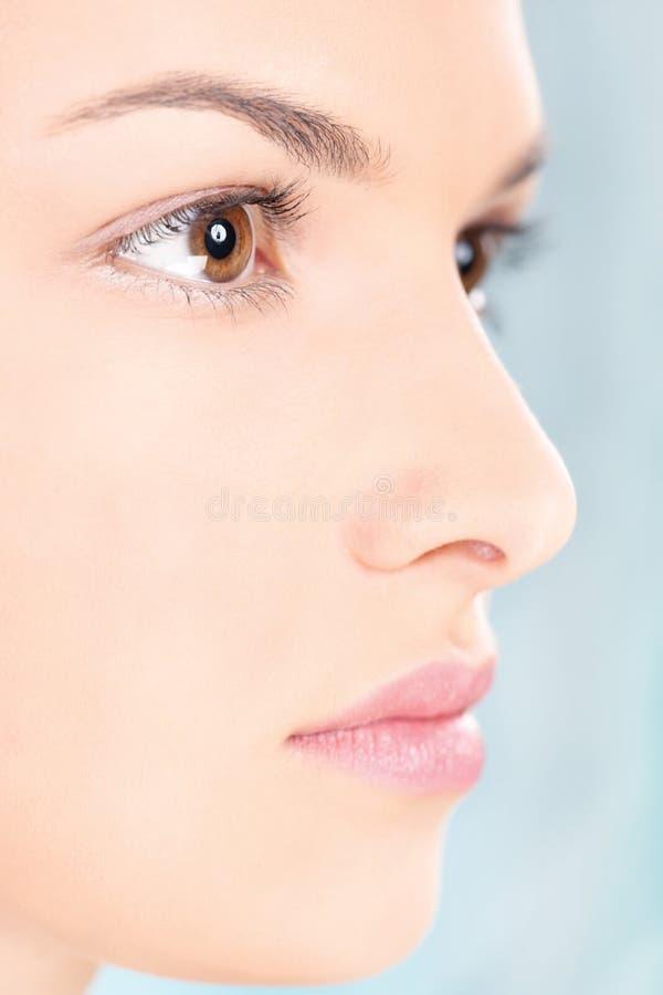 Säubern Sie Hautfrau stockbilder