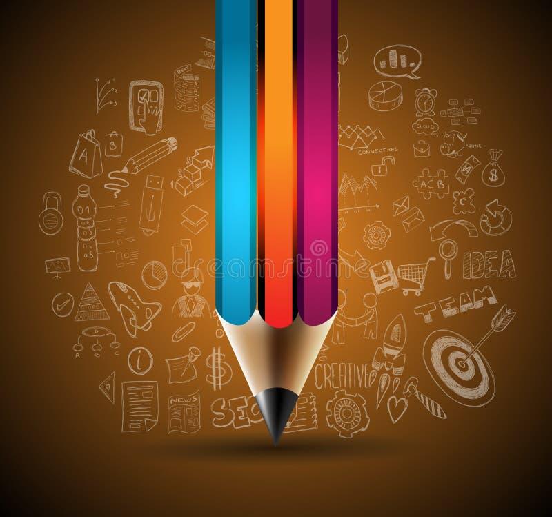 Säubern Sie Infographic-Plan-Schablone für Daten- und Informationsanalyse stock abbildung