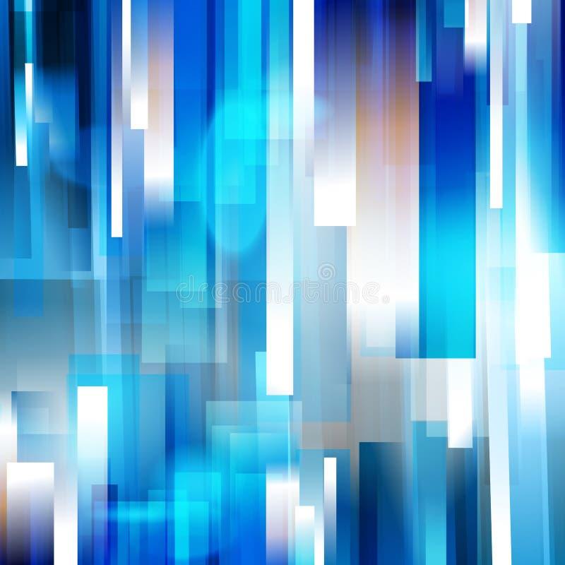 Säubern Sie linearen Hintergrund der blauen Geschwindigkeit stock abbildung