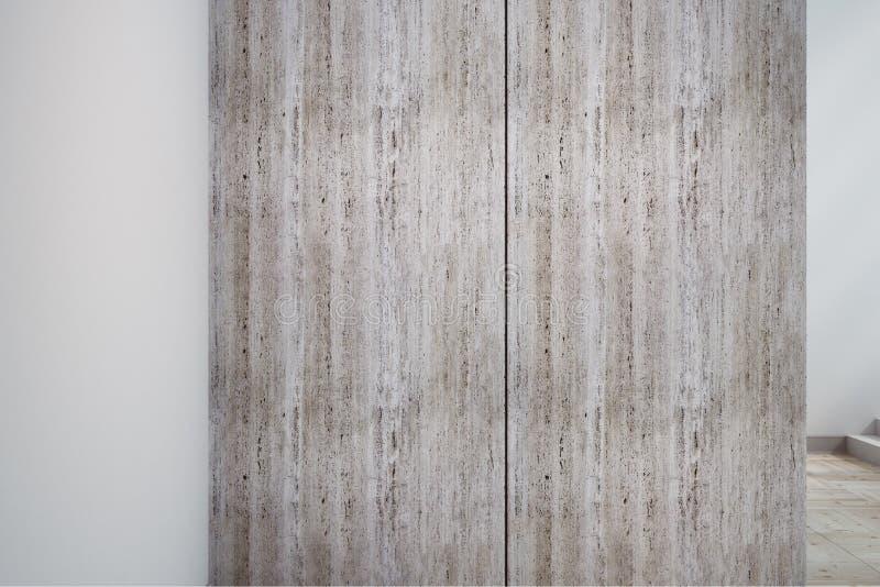 Säubern Sie weiße Betonmauerfahne stock abbildung