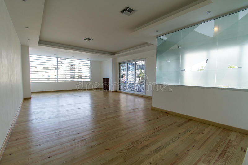 Säubern Sie Yoga-Studio stockbilder