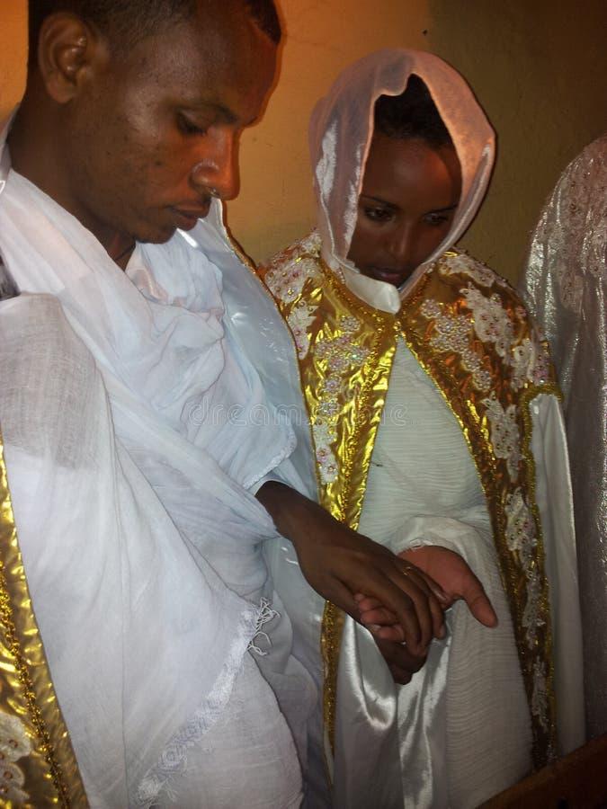 Säubern von Zeremonie in Äthiopien stockbild