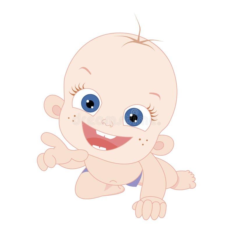 säugling zicklein Vektorabbildung getrennt auf weißem Hintergrund lizenzfreie abbildung