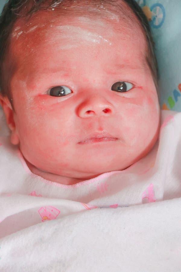 Säuglingsbabyporträt lizenzfreie stockfotos