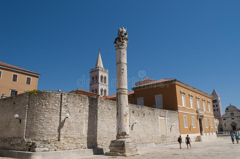 Säule der Schande, Zadar, Kroatien lizenzfreie stockfotografie