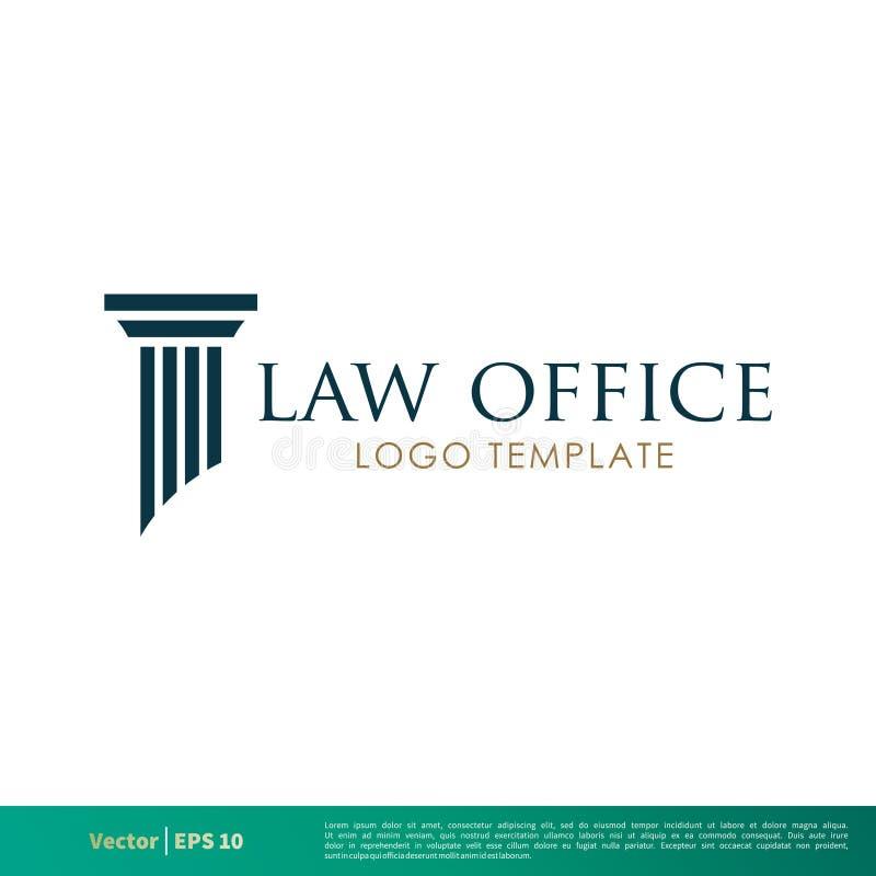 Säule griechisch, Spalten-Rechtsanwaltsbüro, Sozietät, Rechtsanwalt Icon Vector Logo Template Illustration Design Vektor ENV 10 stock abbildung