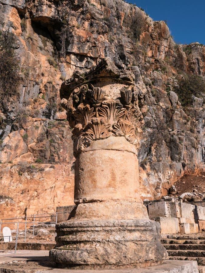 Säule am Tempel von Pan lizenzfreie stockfotos