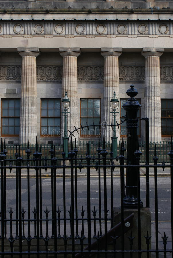 Säulen und Geländer stockbilder