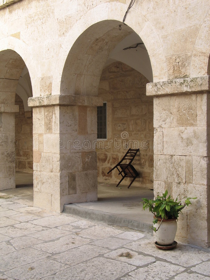Säulengang in Bethlehem lizenzfreies stockfoto