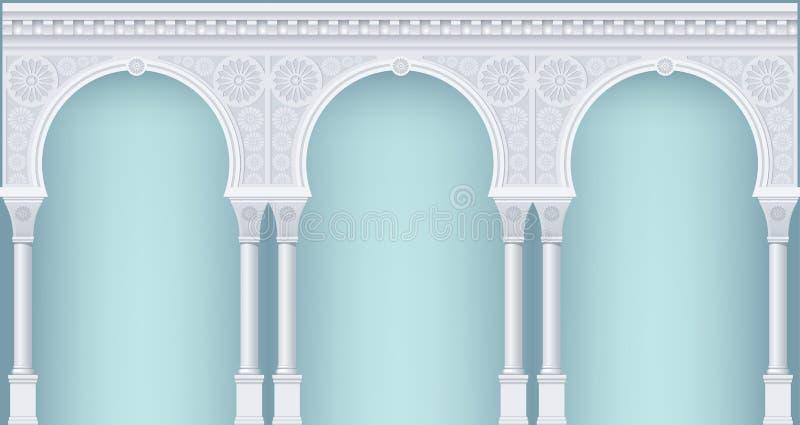 Säulengang in der orientalischen Art lizenzfreies stockfoto