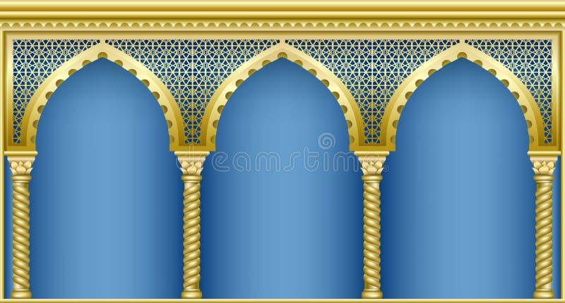 Säulengang in der orientalischen Art stockfoto