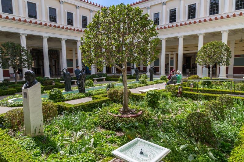 Säulengang-Garten stockfoto
