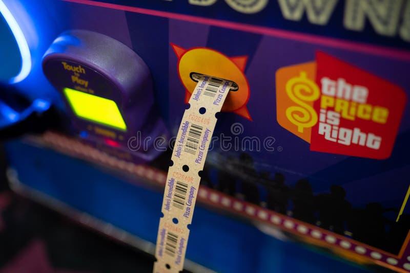 Säulengangkarte, die Maschine zählt lizenzfreie stockbilder