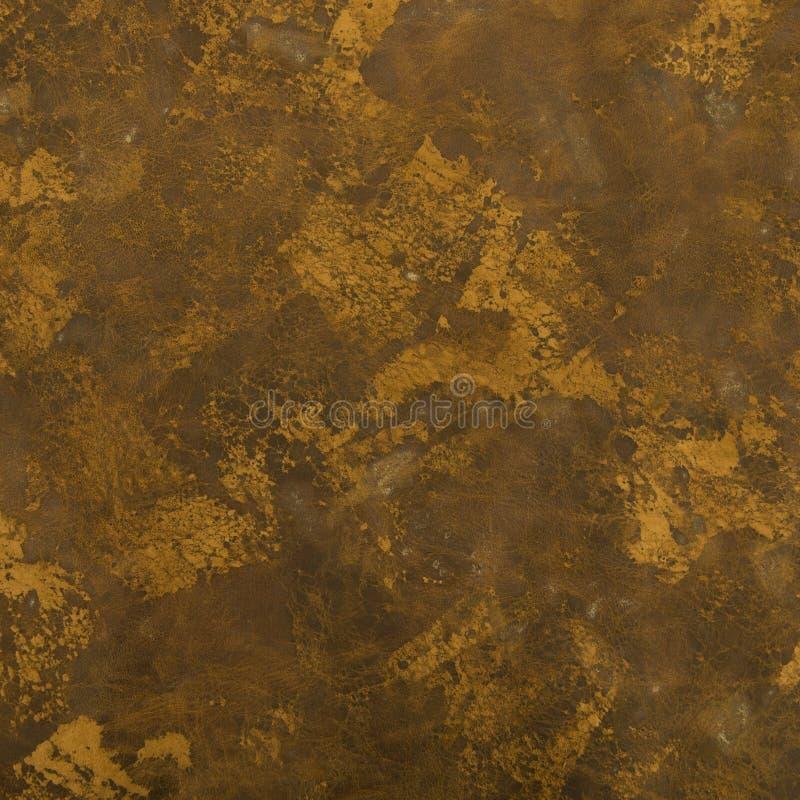 Säure gewaschene Brown-Leder-Druck-Beschaffenheit stockfotografie