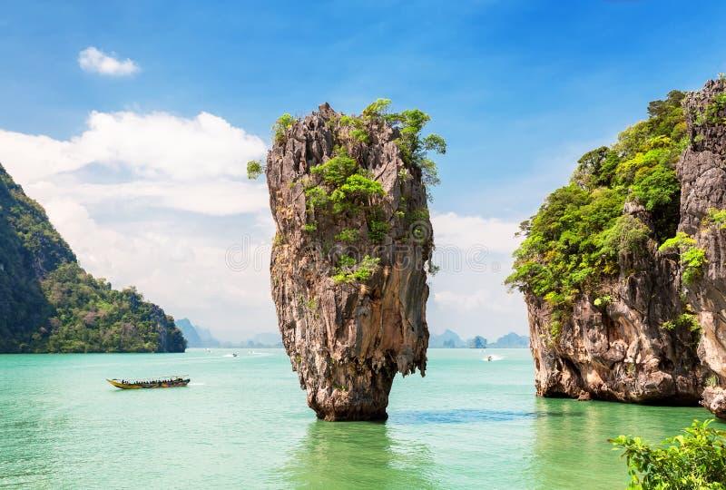 Sławna James Bond wyspa blisko Phuket fotografia stock
