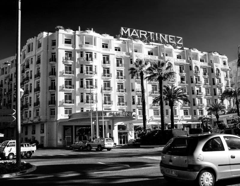 Sławny Grand Hyatt Cannes hotel Martinez zdjęcie stock