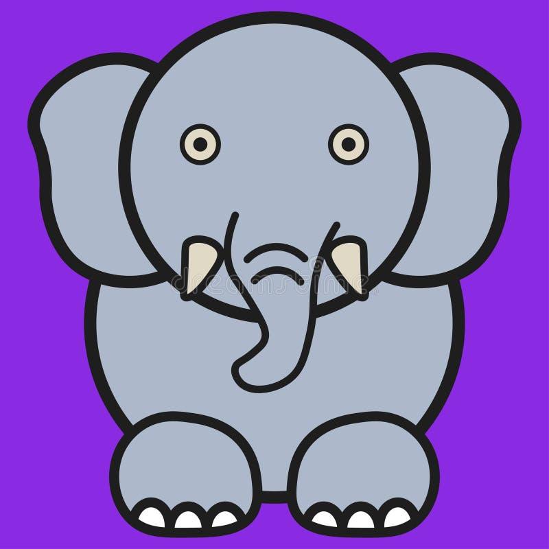 Słoń w kreskówka stylu ilustracji