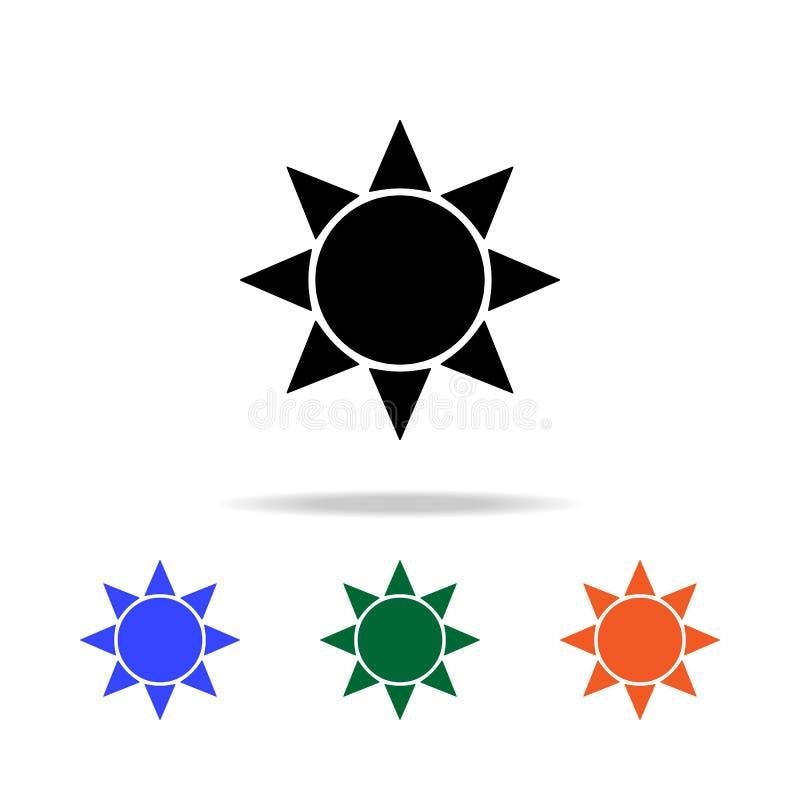 Słońce ikona Elementy prosta sieci ikona w wielo- kolorze Premii ilości graficznego projekta ikona Prosta ikona dla stron interne ilustracja wektor
