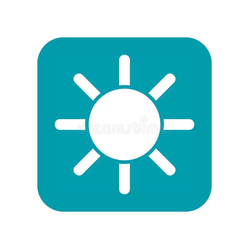słońce Mieszkanie pogodowa ikona, jasny i pogodny, Meteo warunki wektor ilustracja wektor