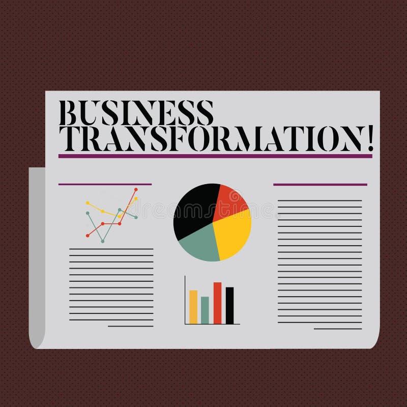 Słowa writing teksta biznesu transformacja Biznesowy pojęcie dla robić zmienia w conduction firmy ulepszenie royalty ilustracja
