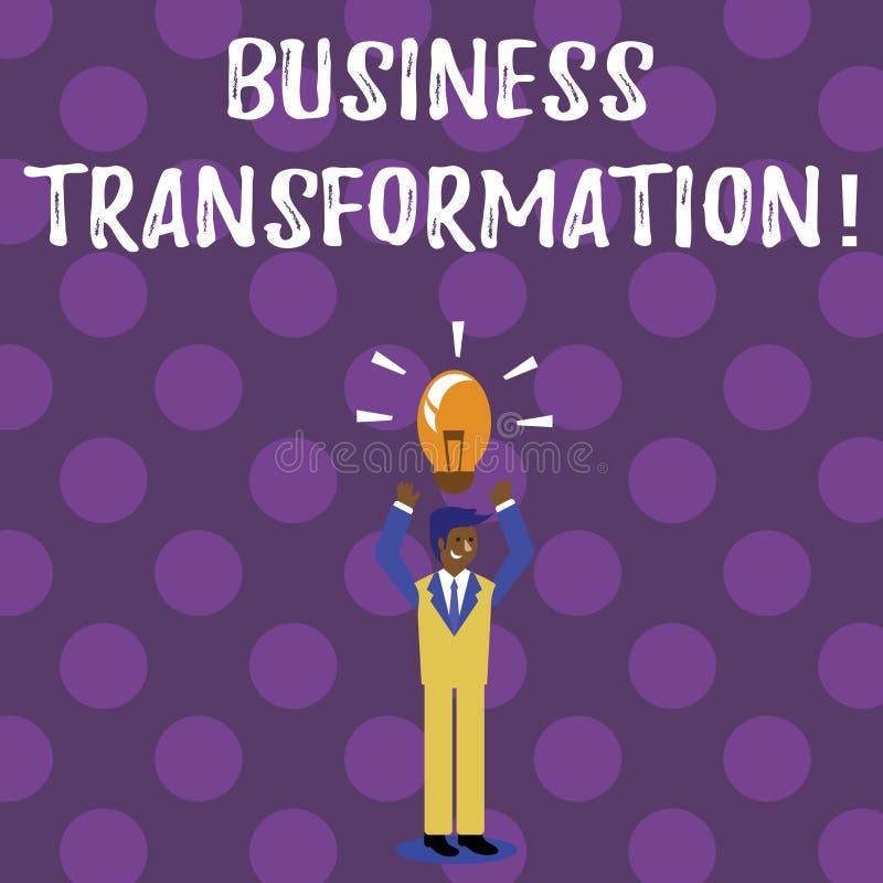 Słowa writing teksta biznesu transformacja Biznesowy pojęcie dla robić zmienia w conduction firmy ulepszenie ilustracji