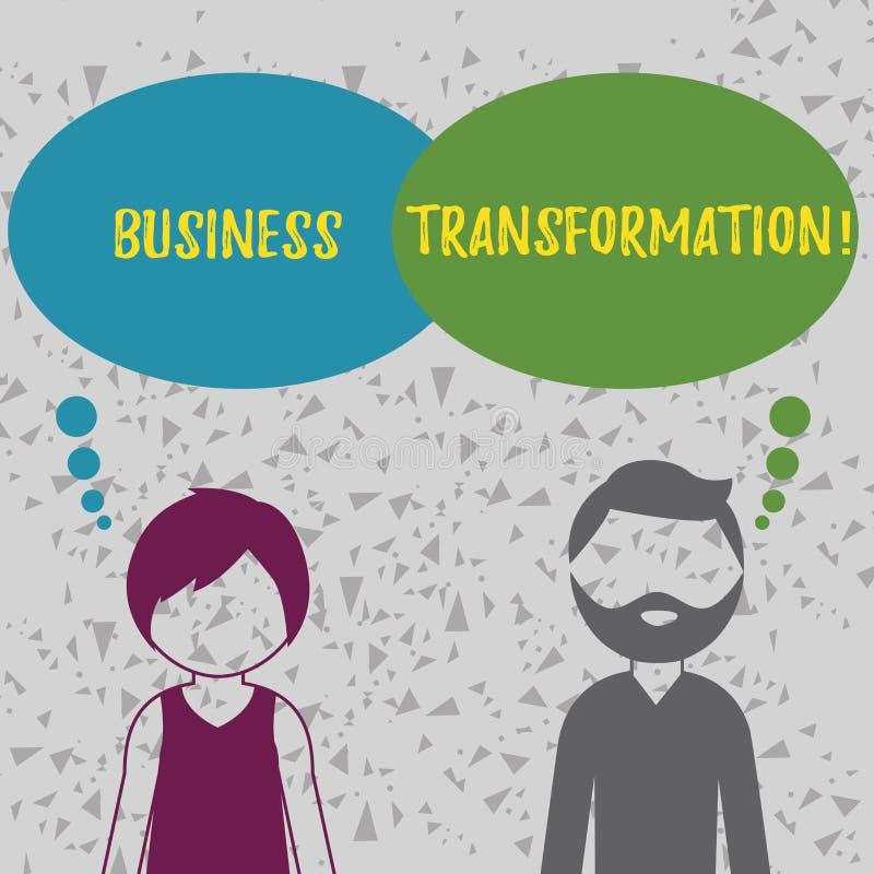 Słowa writing teksta biznesu transformacja Biznesowy pojęcie dla robić zmienia w conduction firmy ulepszenie ilustracja wektor
