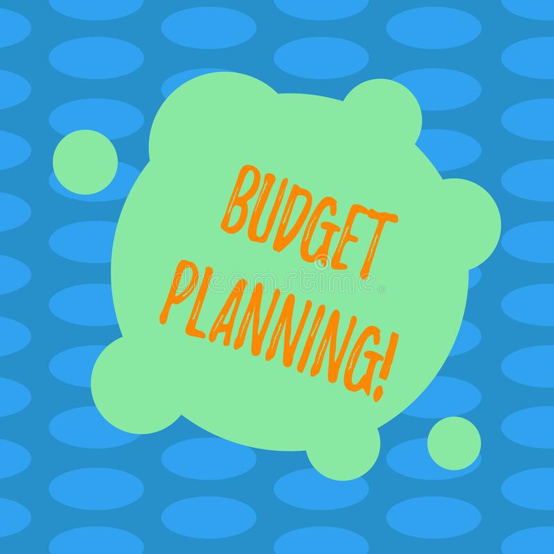 Słowa writing teksta budżeta planowanie Biznesowy pojęcie dla Pieniężnego planowania cenienia przychody i kosztu puste miejsce De royalty ilustracja