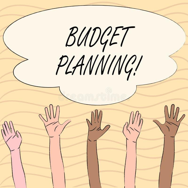 Słowa writing teksta budżeta planowanie Biznesowy pojęcie dla Pieniężnego planowania cenienia przychody i koszty royalty ilustracja