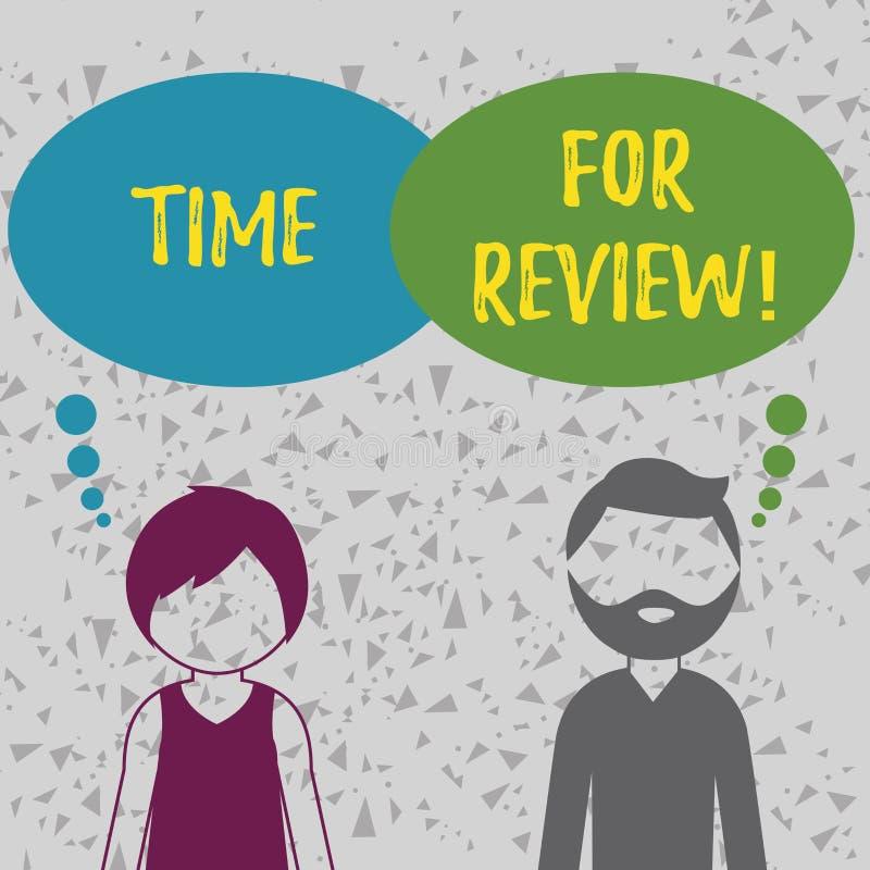 Słowa writing teksta czas Dla przeglądu Biznesowy pojęcie dla Dawać informacje zwrotne Szacunkowemu tempo pracy testowi lub produ royalty ilustracja
