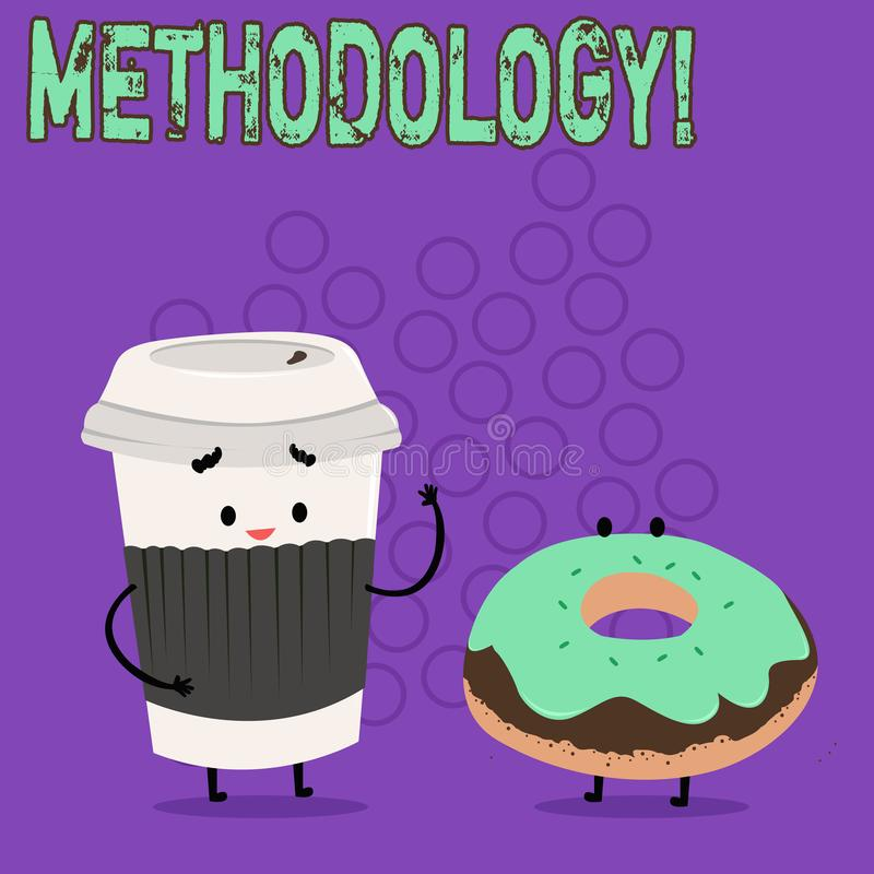 Słowa writing teksta metodologia Biznesowy pojęcie dla systemu metody używać w nauce podążać lub aktywność krokach ilustracja wektor