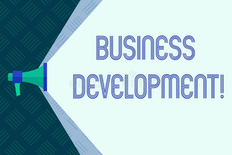Słowa writing teksta rozwój biznesu Biznesowy pojęcie dla Rozwijać i narzędzie organizacji przyrosta sposobności ilustracji