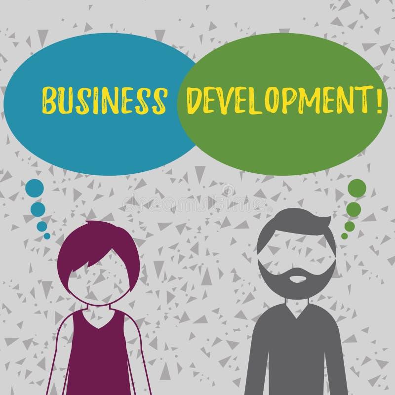 Słowa writing teksta rozwój biznesu Biznesowy pojęcie dla Rozwijać i narzędzie organizacji przyrosta sposobności ilustracja wektor